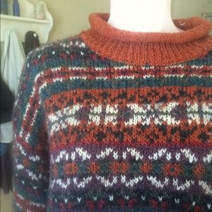 Printed Mock Neck Sweater